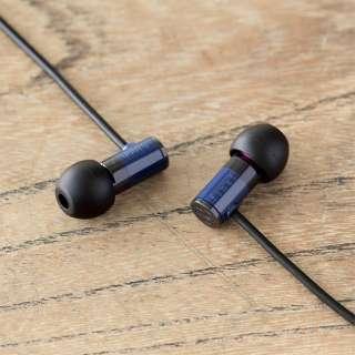イヤホン カナル型 FI-E1DPLBU ブルー [φ3.5mm ミニプラグ /ハイレゾ対応]