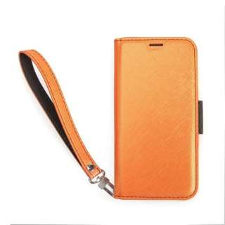 iPhone XS Max対応 NU手帳型合皮ケース CRI9LCSPLNUOB OrangeBlack