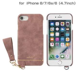 iPhone SE(第2世代)4.7インチ/ iPhone 8/7/6s/6専用 salisty(サリスティ)Q スエードスタイル ハードケース(スモーキーピンク)Q-HC001C 276-895528