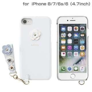 iPhone SE(第2世代)4.7インチ/ iPhone 8/7/6s/6専用 salisty(サリスティ)P フラワースタッズ ハードケース(ペールブルー)P-HC002C 276-895610