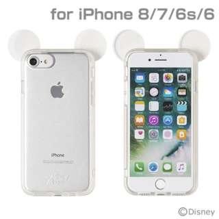 iPhone SE(第2世代)4.7インチ/ iPhone 8/7/6s/6専用 ディズニーキャラクターキラキラTPUケース(ミッキーマウス/クリア) 276-899007