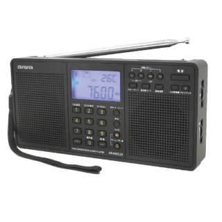 AR-MDS25 携帯ラジオ パールブラック [AM/FM/短波/長波 /ワイドFM対応]