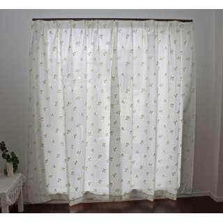 2枚組 断熱・保温パイルミラーレースカーテン (100×176cm)
