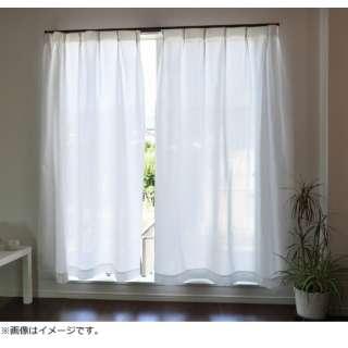 2枚組 防炎加工断熱保温プライバシーを守るスーパーミラーレースカーテン(100×108cm)
