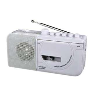 モノラルラジカセ WINTECH ホワイト SCT-M100