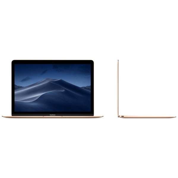 MacBook 12インチ[SSD 256GB/メモリ 8GB/1.2GHzデュアルコアCore m3]ゴールド MRQN2J/A