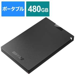 SSD-PGC480U3-BA 外付けSSD USB-C+USB-A接続 (PS5対応) ブラック [480GB /ポータブル型]