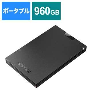 SSD-PGC960U3-BA 外付けSSD ポータブル 960GB PS4対応 [PS5動作確認済み]  Type-C ブラック [ポータブル型 /960GB]