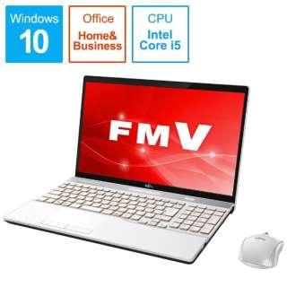 LIFEBOOK AH52/C2 ノートパソコン プレミアムホワイト FMVA52C2WB [15.6型 /intel Core i5 /SSD:256GB /メモリ:8GB /2018年12月モデル]