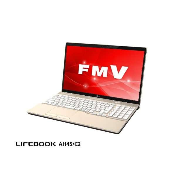 FMVA45C2G2 ノートパソコン LIFEBOOK AH45/C2 シャンパンゴールド [15.6型 /intel Core i3 /HDD:1TB /メモリ:4GB /2018年11月モデル]