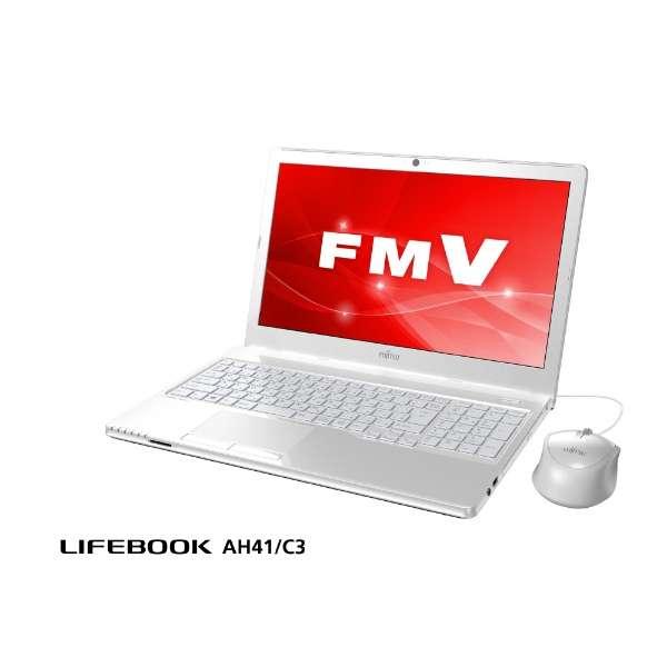 FMVA41C3W ノートパソコン LIFEBOOK AH41/C3 アーバンホワイト [15.6型 /AMD Eシリーズ /SSD:256GB /メモリ:4GB /2018年11月モデル]