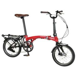 【eバイク】 16型 電動アシスト 折りたたみ自転車 Harry Quinn PORTABLE E-BIKE(レッド) AL-FDB160E【2019年モデル】 【組立商品につき返品不可】