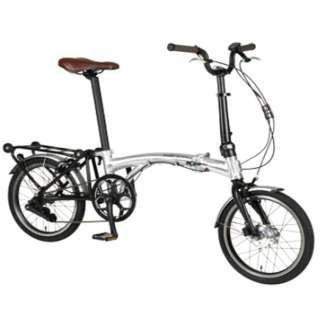 【eバイク】 16型 電動アシスト 折りたたみ自転車 Harry Quinn PORTABLE E-BIKE(スコッチシルバー) AL-FDB160E【2019年モデル】 【組立商品につき返品不可】