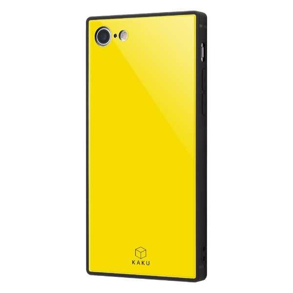 iPhone 8/7 耐衝撃ガラスケース KAKU IQ-P7K1B/Y イエロー