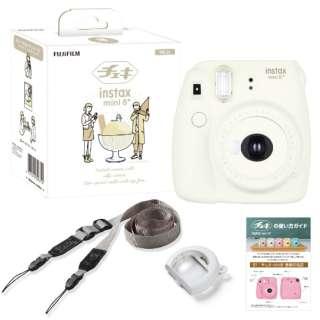 インスタントカメラ 『チェキ』 instax mini 8+(プラス) 純正ショルダーストラップ付 バニラ