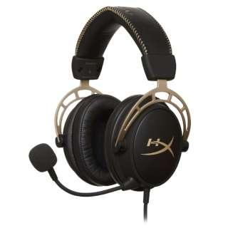 HX-HSCA-GD/NAP 有線ゲーミングヘッドセット Cloud Alpha Gold [φ3.5mmミニプラグ /両耳 /ヘッドバンドタイプ]