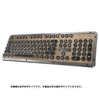 MK-RETRO-BT-W-01-JP キーボード Retro Classic ウッド [Bluetooth・USB /有線・ワイヤレス]