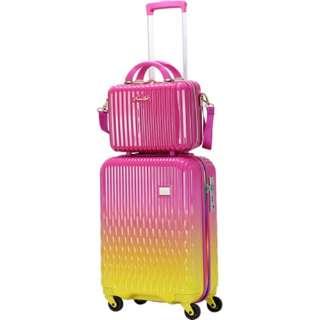 スーツケース ハード ジッパーフレーム 32L LUNALUX(ルナルクス) ピンク/イエロー LUN2116-48PK/YE [TSAロック搭載]