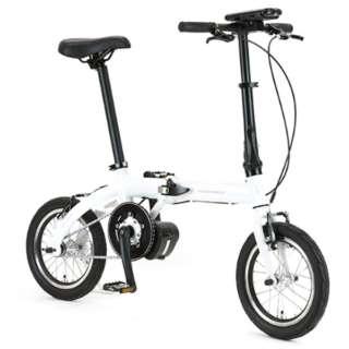 【eバイク】 16型 電動アシスト折りたたみ自転車 ULTRA LIGHT E-BIKE TRANS MOBILLY(ホワイト/6段変速) E-BIKE166E 【組立商品につき返品不可】