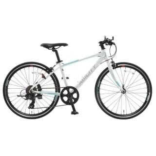 24型 クロスバイク アビリティJr.24(Sパールホワイト/外装7段変速) SAA24【2019年モデル】 【組立商品につき返品不可】