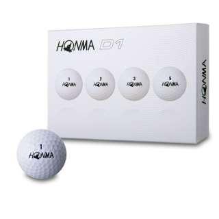 ゴルフボール HONMA New-D1 ボール《1ダース(12球)/ホワイト》BT1801【2018年モデル】