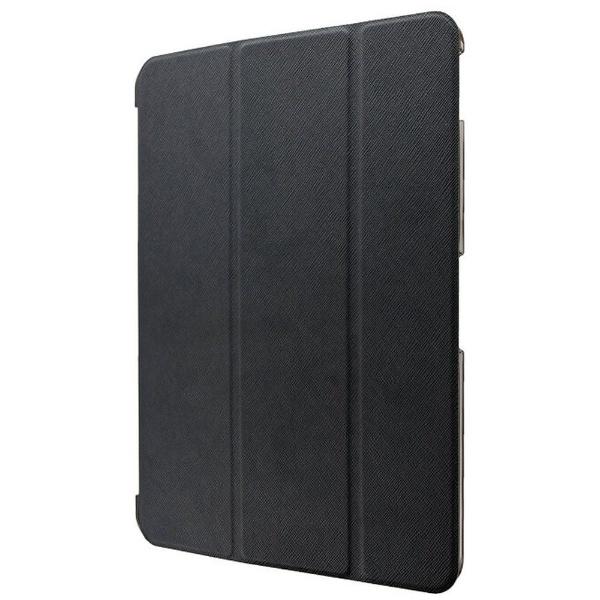 iPad Pro 2018 11インチ用 背面クリアフラップケース 「Clear Note」 LP-IPPMLCBK ブラック