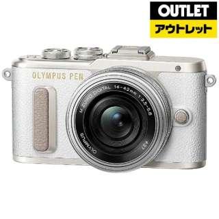 【アウトレット品】 ミラーレス一眼カメラ PEN E-PL8-WH [ズームレンズキット] ホワイト 【生産完了品】