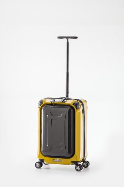 スーツケース ハードキャリー 30L La PANTHEON(ラ パンテオン) イエロー+カーボン PTK-1000-18 [TSAロック搭載]