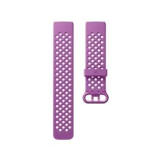 Fitbit フィットビット Charge3 専用 純正 交換用 スポーツ リストバンド Berry ベリー Sサイズ【日本正規品】 FB168SBLVS