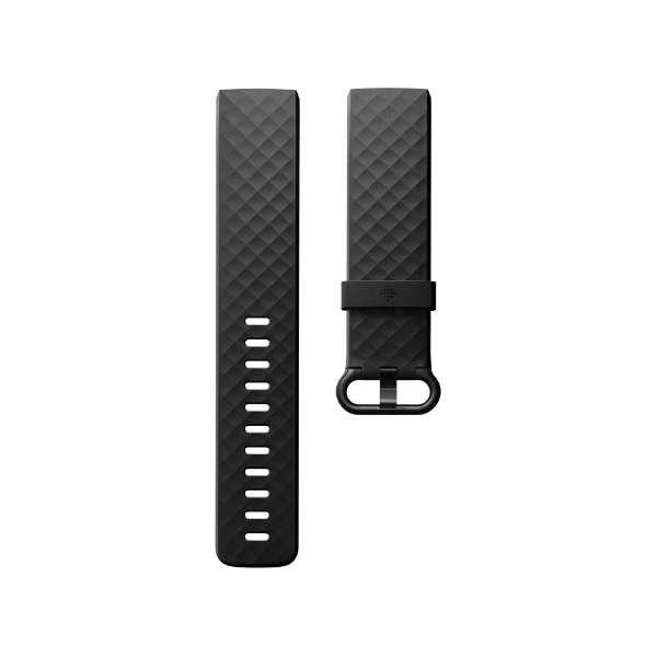 Fitbit フィットビット Charge3 専用 純正 交換用 クラシック リストバンド Black ブラック Lサイズ【日本正規品】 FB168ABBKL