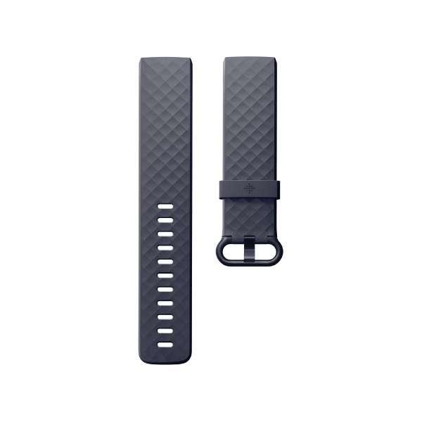 Fitbit フィットビット Charge3 専用 純正 交換用 クラシック リストバンド BlueGrey ブルーグレー Lサイズ【日本正規品】 FB168ABGYL