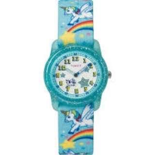 TIMEX Kids タイムマシーン ブルーレインボーユニコーン ストラップ 【正規品】 TW7C25600