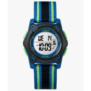 TIMEX Kids タイムマシーンデジタル ブルー/ブラック/グリーン ナイロンストラップ 【正規品】 TW7C26000