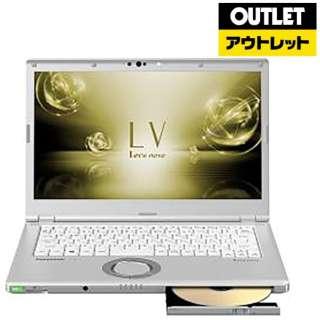 【アウトレット品】 14型ノートPC[Win10 Pro・Core i5・SSD 256GB・メモリ 8GB・Office付き] Let's note CF-LV7HDGQR シルバー 【外装不良品】