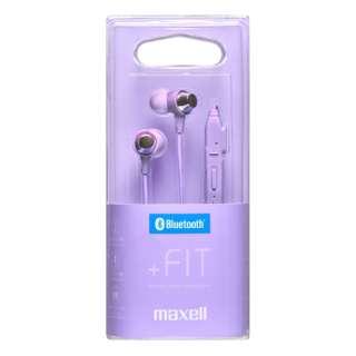 ブルートゥースイヤホン カナル型 パープル MXH-BTC110PU [リモコン・マイク対応 /ワイヤレス(ネックバンド) /Bluetooth]