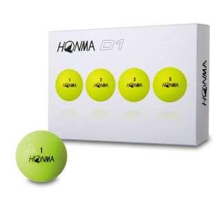 ゴルフボール HONMA New-D1 ボール《1ダース(12球)/イエロー》BT1801【2018年モデル】