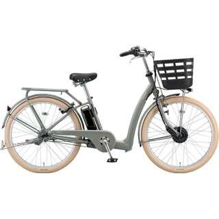 26型 電動アシスト自転車 フロンティアリラクシー(M.Xソフトカーキ/内装3段変速)FC6B49【2019年・カラータイヤモデル】 【組立商品につき返品不可】