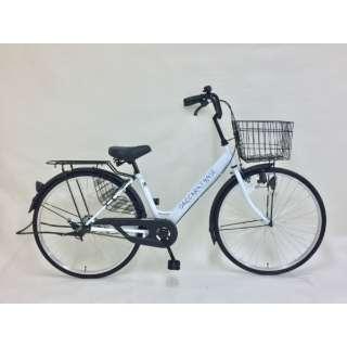 26型 自転車 ダカラットベース(ミルキーホワイト/シングルシフト)FV_B260BA_A