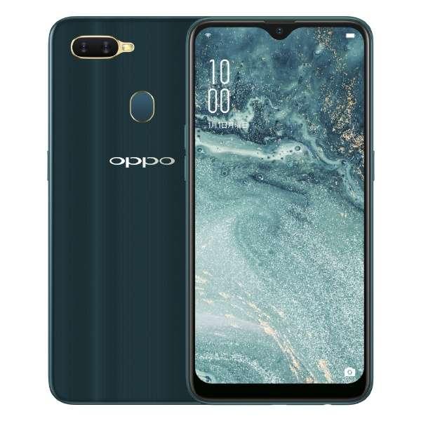 OPPO AX7 ブルー  Snapdragon 450 6.2型 メモリ/ストレージ:4GB/64GB nanoSIM×2 DSDV対応 SIMフリースマートフォン CPH1901 ブルー