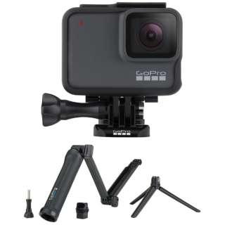 【期間限定】マイクロSD対応 4Kムービー ウェアラブルカメラ GoPro(ゴープロ) HERO7 シルバー 3WAYセット [4K対応 /防水]