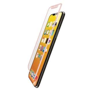 iPhone XS フルカバーガラスフィルム フレーム付 PMCA18BFLGFRPN ピンク