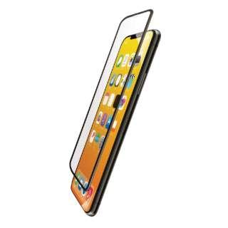iPhone XS フルカバーガラスフィルム 超強化 PMCA18BFLGHRBK ブラック