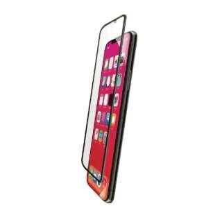 iPhone XR フルカバーガラスフィルム BLカット PMCA18CFLGGRBLB ブラック