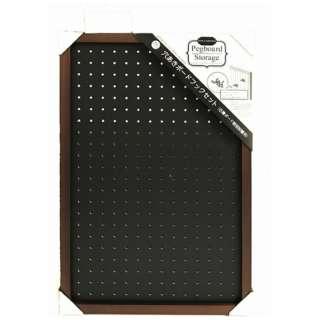 穴あきボード 400×600×28mm フック2個セット 有孔ボード SIKB-4060-BH ブラック