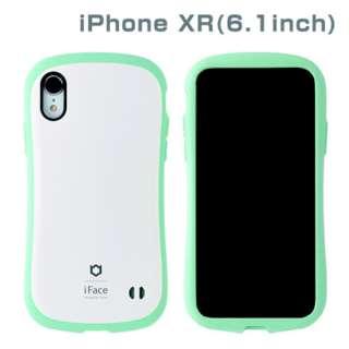 [iPhone XR専用]iFace First Class Pastelケース(ホワイト/ミント) 41-899113