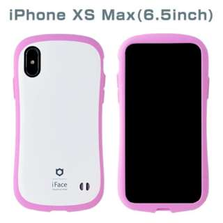 [iPhone XS Max専用]iFace First Class Pastelケース(ホワイト/ピンク) 41-899304