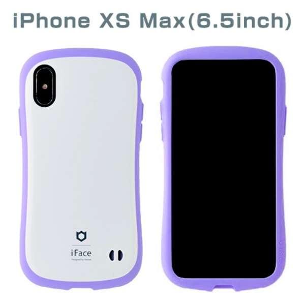 [iPhone XS Max専用]iFace First Class Pastelケース(ホワイト/パープル) 41-899328