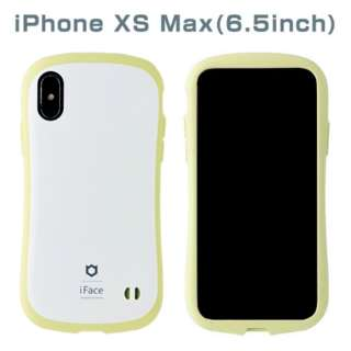 [iPhone XS Max専用]iFace First Class Pastelケース(ホワイト/イエロー) 41-899359