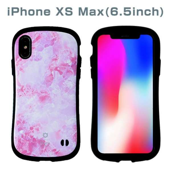 [iPhone XS Max専用]iFace First Class Marbleケース(ピンク) 41-899427