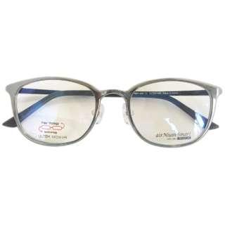 【度無しクリアレンズ】airNium-smart PREMIUM メガネセット(シルバー×パールブラック)ASP2-1002-1[薄型/屈折率1.60/非球面/PCレンズ]